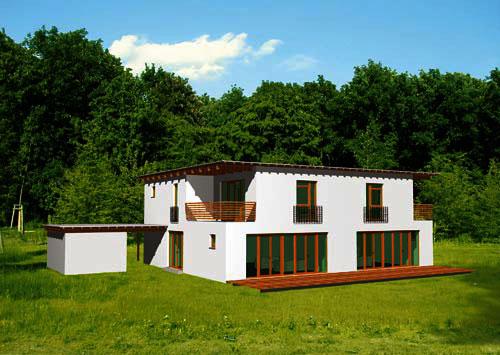 Landhaus modern fassade  Bauweise